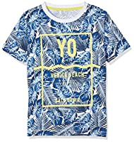 NAME IT Boys�?? Nitzilli Ss Top Box Nmt T-Shirt, Multicoloured (Nautical Blue), 134