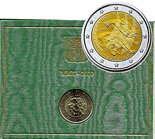 Münzkarte (ohne Münze) für 2-Euro Gedenkmünze Vatikan 2010 - Priesterjahr