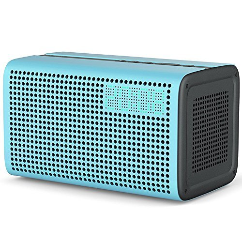 Altavoz WiFi y Bluetooth Speaker, 10W Equipado con Amazon Alexa Voz Control Sonido Estéreo for iOS y Android Dispositivos Multifuncional Speaker con AUX Cable Inteligente Altavoz for Spotify iTunes - Negro