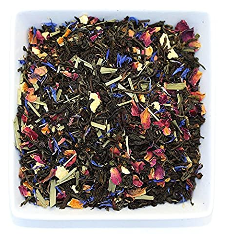 Tealyra - Lady Grey - Black Tea Loose Leaf Tea - Aromatic and Classic England Tea - Citrus - Lemon with rose Petals - Medium Caffeine - Blend - 110 gram