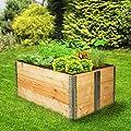 TecTake 3x Hochbeet Rahmen faltbar 120 x 80 x 19 cm von TecTake bei Du und dein Garten