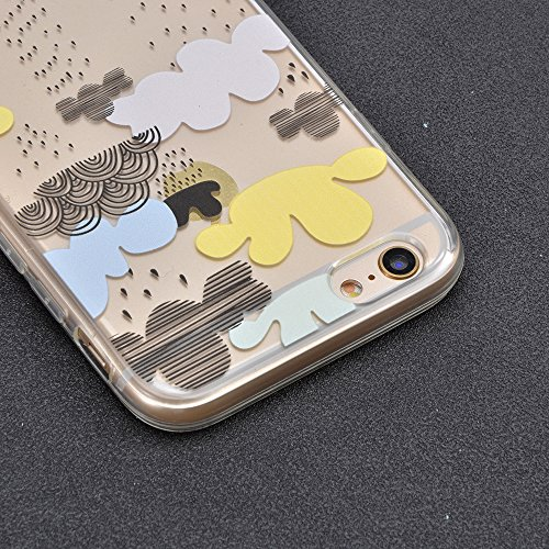 Sunroyal Crystal Case Hülle für >            iPhone SE / 5 / 5S            < aus TPU Silikon mit Giraffe Design ,TPU Case Schutzhülle Silikon Crystal Kirstall Clear Case Durchsichtig - Schutzhülle Cover klar in GiraffeTran Pattern 04