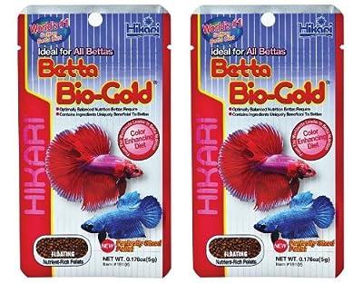 Betta Bio Gold by Hikari Pack of Two Fish Food 5g Each