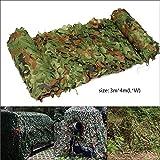 Hakkin Filet De Camouflage Militaire Pour Chasse Camping Jungle Décor Jardin Camouflage Net Camouflage (3M X 4M)