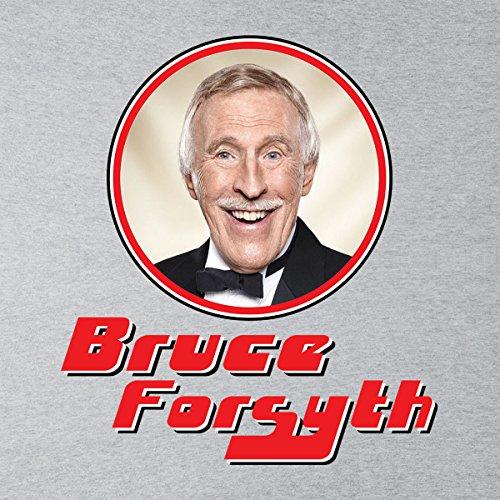 Bruce Forsyth Retro Photo Frame Men's Hooded Sweatshirt Heather Grey