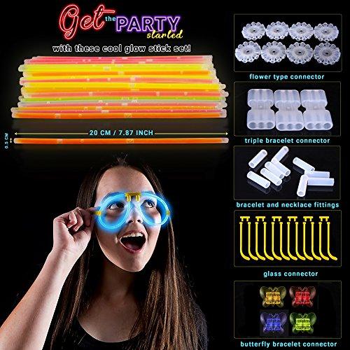 61UsCf9giFL - 543 Pack, 250 Varitas Luminosas, Glow Sticks, 293 Conectores - Pulseras, Collares, Gafas, Bolas Luminosas, Flores - Seguro y No Tóxico| Niños, Cumpleaños, Fiestas de Neón, Decoracion, Piñatas.