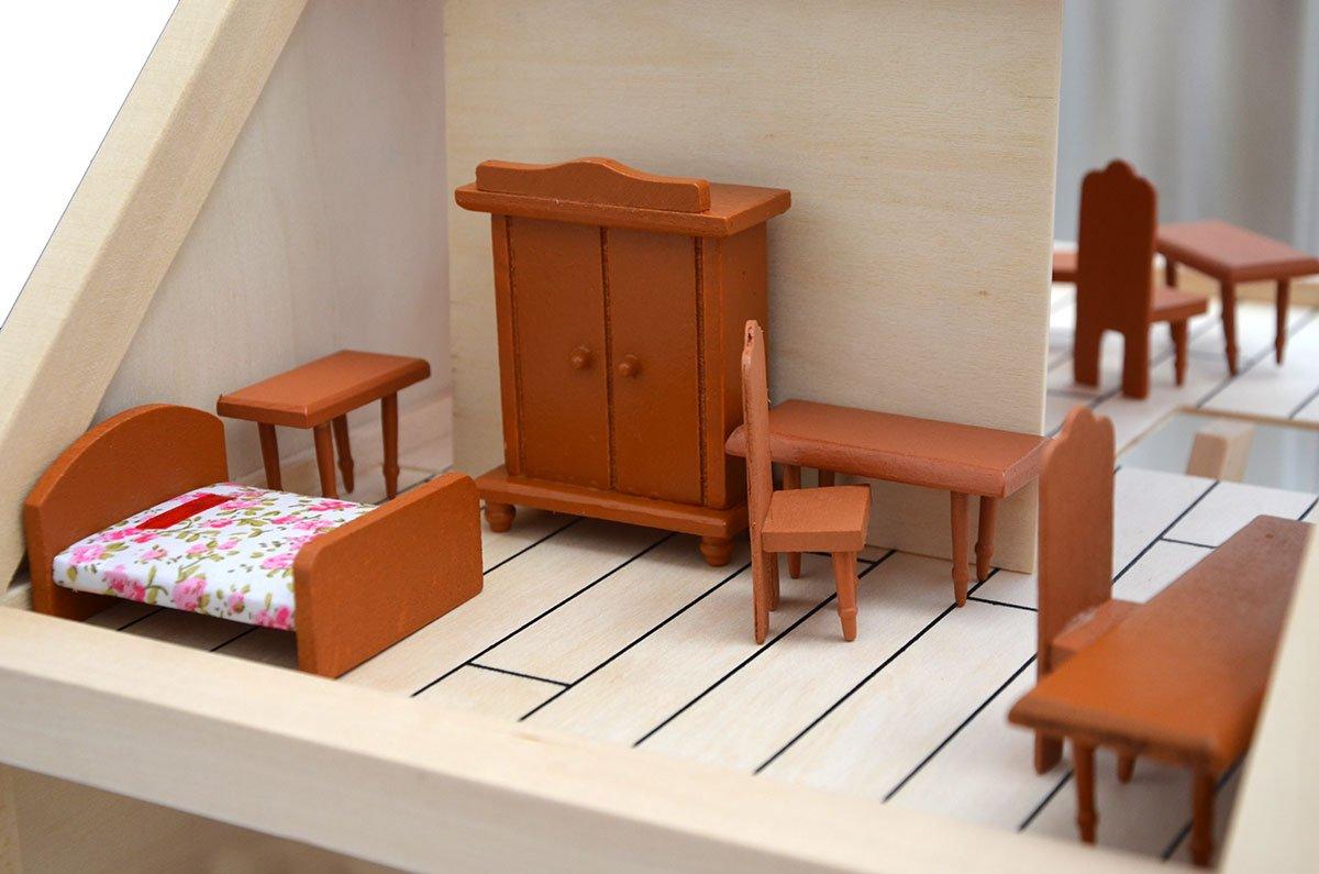 Mobili Per Casa Delle Bambole : Eyepower set di mobili in miniatura per casa delle bambole