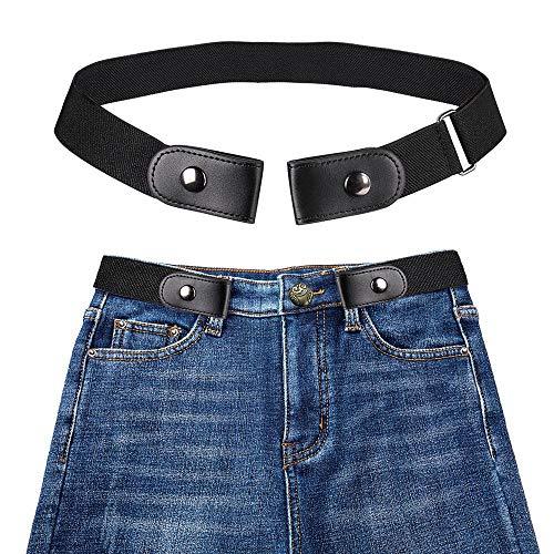 Womdee Cinturón de Mujer Elástico Sin Hebilla - Cinturón Elástico Invisible (40 Pulgadas Ajustable), Más Salud para Cinturón Elástico Invisible Sin Hebilla de Cintura para Cualquier Persona de Talla