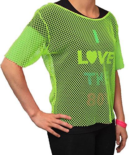 LLadies Neon Green Mesh Top - Sizes 6 to 20