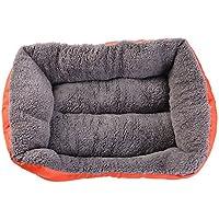 URIJK Camas de perro y cojines caseta mascota nido gato Pad impermeable colorido, Naranja,