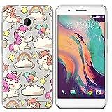 Easbuy Handy Hülle Soft TPU Silikon Case Etui Tasche für HTC One X10 Smartphone Bumper Cover Handytasche Handyhülle Schutzhülle