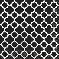 Unique Party 38772 Tovaglioli di Carta con Quadrifoglio Nero, Confezione da 16