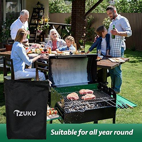 confronta il prezzo Copertura Barbecue IZUKU Impermeabile Telo Protettivo per BBQ GrillAnti Pioggia Polvere Sole Neve Tessuto Oxford 145x61x117cm miglior prezzo