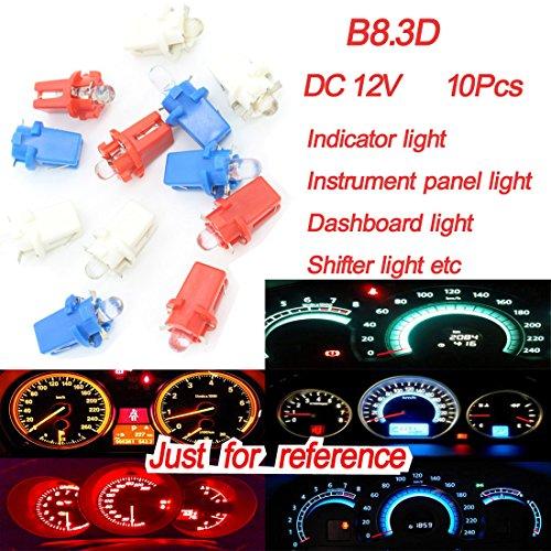 Preisvergleich Produktbild 10x B8.3d dongzhen DC12V LED Armaturenbrett Lampe für Chrysler für Kia Indikator Instrument Panel Keil Leuchte