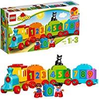 LEGO 10847 Duplo My First Number Train Toy with Number Decorated Bricks, Early Education 18 Months Old Baby Toy