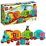 LEGO Duplo My First Il Treno dei Numeri, Giochi Educativi Didattici, Grandi Mattoncini Numerati, Giocattolo per Bambino… LEGO