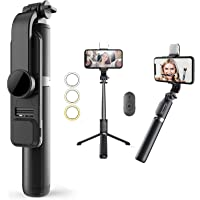 Bluetooth Extendable Selfie Stick with Led Light Wireless Remote and Tripod Stand 104cm for All iPhone and Android…