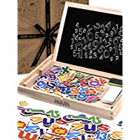 Jaques of London - Count and Spell Wooden Toys Magnetic Drawing Boards for Kids - Perfect Educational Wooden Toys. Great Montessori Toys for 2 3 4 5 Year Olds