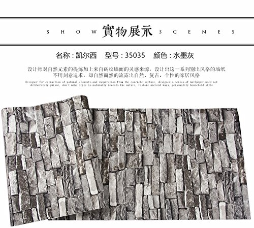 Grau 3D Simulation Stein Tapete Kleidung STORE BAR Chinesische Restaurant Hotel Vintage Brick Ziegel Kultur Stein Tapete