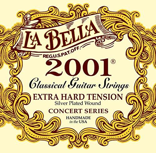 La Bella Classic 2001 XHT, Saiten für klassische Gitarre, Extra High Tension