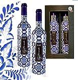 100% Portugal Vintage Wein Geschenkset Galharda Tinto Douro Das Luxus Weingeschenk für Liebhaber portugiesischer Weine mit Geschenkkarte 2er Set Spitzenweine aus Portugal Ideal zum Geburtstag Vatertag Jubiläum