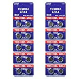Toshiba LR44 AG13 Alkaline 1.5 Volt Batteries x20 by Toshiba