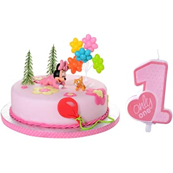 Tortendeko Minnie Mouse Baby 5 Teiligtortenaufleger 1 Geburtstag