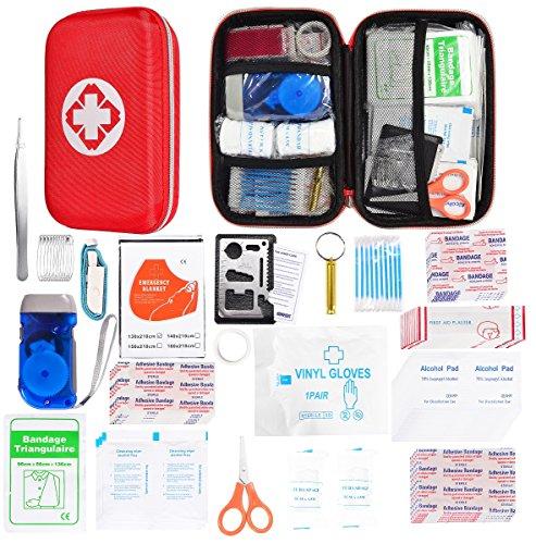Kompaktes Erste-Hilfe-Kit - Survival Tools Mini Box - Wasserdichte Outdoor Notfalltasche Leicht für Notfälle zu Hause Auto Camping Arbeitsplatz Wandern Jagd Reisen Abenteuer