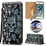 Etsue Handytasche für iPhone 7 4.7 Zoll Brieftasche Hülle