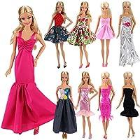 550faf06a26f85 Miunana 5 St Hochzeit Fashionistas Ballkleid Abendkleid Kleidung Kleider  Cocktailkleid Minikleid für Barbie Puppen Doll