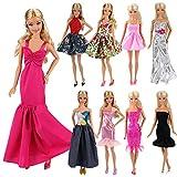Miunana Fatti A Mano 5 PCS Vestiti Abiti Selezionati A Caso Per Bambola Barbie Dolls