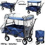 alles-meine.de GmbH Bollerwagen / Leiterwagen - 100 kg belastbar ! ___ Faltbar & klappbar - Blau -..