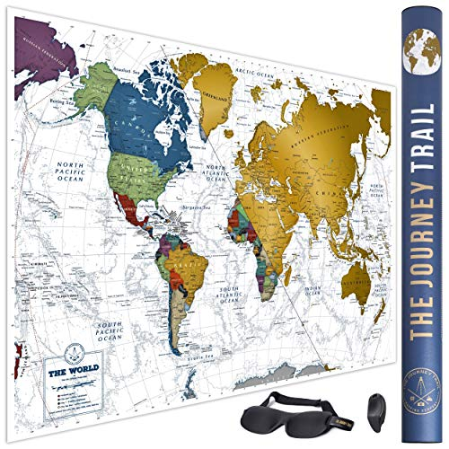 Mapamundi Rascar viajeros familias - Scratch off World