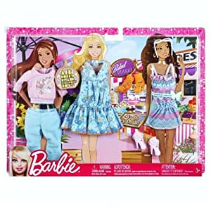 barbie trend garderoben set mode kleider kleidung shopping spielzeug. Black Bedroom Furniture Sets. Home Design Ideas