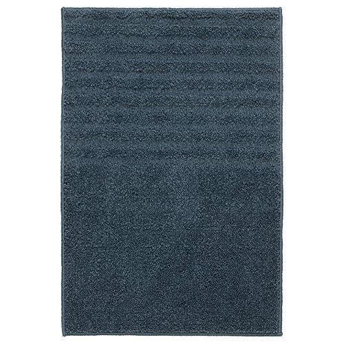VOXSJON Alfombrilla de baño Absorbente Antideslizante de Goma respaldado poliéster IKEA, Azul...