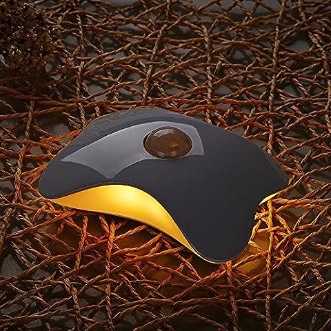 NERO Creative LED a farfalla il corpo umano sensori piccolo notte di illuminazione a soffitto sensore intelligente di luce a parete , la luce bianca