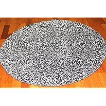 redondas Alfombras–Capri (Negro de plata), redondo 160 cm