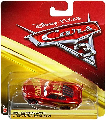 Image of Disney Pixar Cars 3 Rust-Eze Racing Center Lightning McQueen 1:55 Die Cast Car