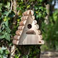 Handmade Wooden Garden Birdhouse Box - Wildlife Home for Bird Nesting by Alfresia