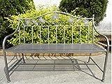 Garten Sitz Bank Eisen Sitz Gelegenheit Außen Balkon 2- Sitzer pulverbeschichtet Silber Harms 950363