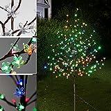 VINGO LED Kirschblütenbaum Bunt Kirschbaum Außenbeleuchtung Baum Dekoration Hohe Qualität Für Weihnachten Halloween Beleuchtung Deko (Höhe ca.220 cm)