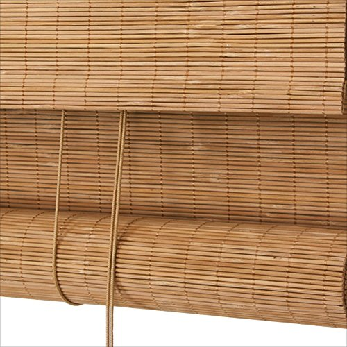 WUFENG Bambus-Vorhangrollo, wasserfest, Anti-Schimmel-Lackierung, für den Außenbereich, Bambus, e, 100x230cm