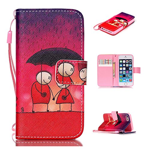 Nutbro iPhone 4 Wallet Case, iPhone 4S Case, Pu Leather Wallet Case [Stand Feature] with Built-in Credit Card Slots Wallet Case for Apple iPhone 4/ iPhone 4S 7