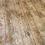 QPC DIRECT-Set da tavola in legno, stile rustico effetto legno, con stampa Karina Home-Tovaglia in PVC e vinile, 2 metri