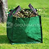 GroundMaster 120L Garden Waste Bags - Heavy Duty Large Refuse Sacks with Handles (3)