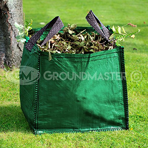 GroundMaster 120L Garden Waste Bags - Heavy Duty Large Refuse Sacks with Handles (5)