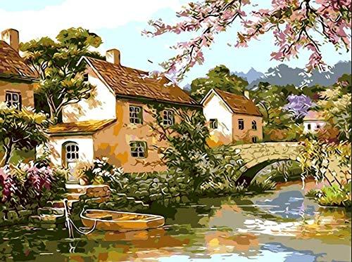 YMX DIY Family Xanadu Scenic Stone Bridge — Pintura Dibujo...