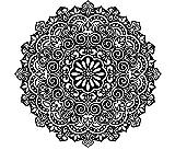 Mandala Wand Aufkleber indischen Muster Oum OM Zeichen Aufkleber Vinyl Aufkleber für Studio Yoga Home Decor Art Wandmalereien Schlafzimmer Dekorationen (mn273), Vinyl, 96cmTall x 96cmWide