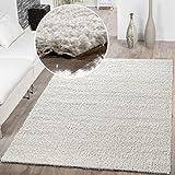 T&T Design Shaggy - Alfombra para salón, diferentes precios, varios colores, crema, 160 x 220 cm