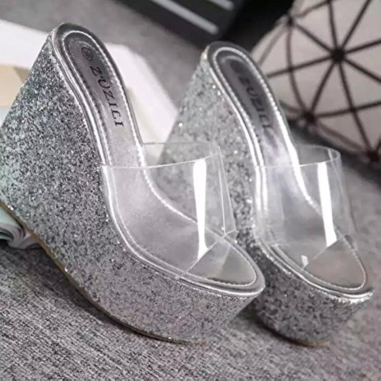 GTVERNH Summer Talons Hauts 13Cm 13Cm 13Cm Pente Talon Transparent Crystal Chaussures Étanches Chaussures Princesse Plate... - B07CMC3HLM - 8cd45d